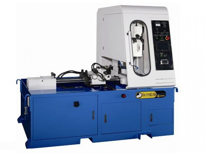 Soco's Steel Tube Cutting OD 114mm + NC Servo Feeding + Touchscreen Panel with Shortest Crop Length